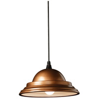 Justice Design CER-6205-ANTC-BKCD Radiance 1 Light 14 inch Antique Copper Pendant Ceiling Light in Black Cord thumb