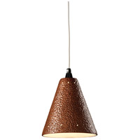 Justice Design Group Radiance Cone w/ Perfs Pendant Pendant in Hammered Copper CER-6225-HMCP thumb