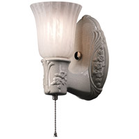 Justice Design CER-7121-WHT-GWST-NCKL American Classics Heirloom Oval 1 Light 5 inch Brushed Nickel with Gloss White Wall Sconce Wall Light thumb