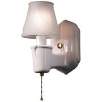 Justice Design CER-7150-MAT-BRSS American Classics Chateau 1 Light 5 inch Polished Brass with Matte White Single Arm Wall Sconce Wall Light thumb