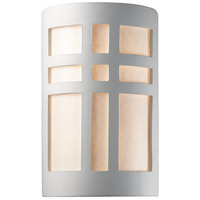 Justice Design Group Ambiance Small Cross Window Outdoor Wall Sconce in Bisque CER-7285W-BIS