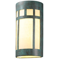 Ambiance Cylinder LED 21 inch Navarro Red Outdoor Wall Sconce in 1000 Lm LED, Really Big