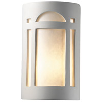 Justice Design Group Ambiance Large Arch Window Outdoor Wall Sconce in Bisque CER-7395W-BIS
