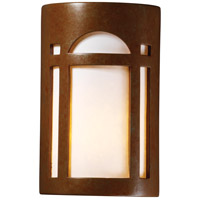 Ambiance Cylinder LED 13 inch Tierra Red Slate Outdoor Wall Sconce in 1000 Lm LED, Large