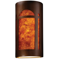 Justice Design CER-7397-ANTC-MICA Ambiance Cylinder 2 Light 11 inch Antique Copper Wall Sconce Wall Light Really Big