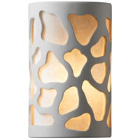 Justice Design Group Ambiance Small Cobblestones Outdoor Wall Sconce in Bisque CER-7445W-BIS
