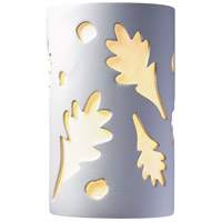 Justice Design Group Ambiance Small Oak Leaves Outdoor Wall Sconce in Bisque CER-7465W-BIS