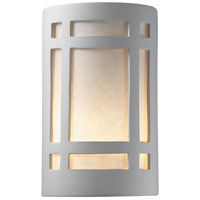 Justice Design Group Ambiance Small Craftsman Window Outdoor Wall Sconce in Bisque CER-7485W-BIS