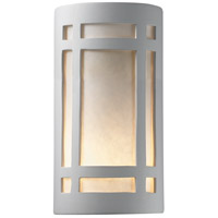 Justice Design Group Ambiance Large Craftsman Window Outdoor Wall Sconce in Bisque CER-7495W-BIS