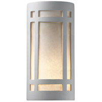 Justice Design Group Ambiance Really Big Craftsman Window Outdoor Wall Sconce in Bisque CER-7497W-BIS