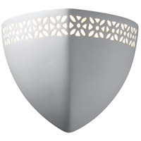 Justice Design Group Ambiance Ambis w/ Floral Band Wall Sconce in Bisque CER-7810-BIS