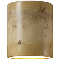 Justice Design Group Sun Dagger 1 Light Wall Sconce in Greco Travertine with No Cutout CER-9010-TRAG-NCUT