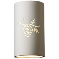 Justice Design Group Sun Dagger Sun Dagger Large Cylinder Wall Sconce in Bisque CER-9015-BIS