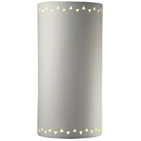Justice Design Group Sun Dagger 1 Light Outdoor Wall Sconce in Bisque with No Cutout CER-9020W-BIS-NCUT