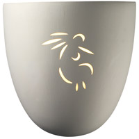 Justice Design Group Sun Dagger 1 Light Wall Sconce in Bisque with No Cutout CER-9030-BIS-NCUT