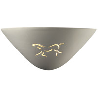 Justice Design Group Sun Dagger 1 Light Wall Sconce in Bisque with No Cutout CER-9035-BIS-NCUT