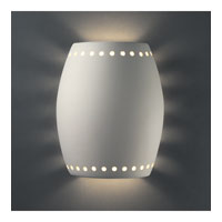 Justice Design Group Sun Dagger 1 Light Outdoor Wall Sconce in Bisque with No Cutout CER-9045W-BIS-NCUT