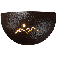 Justice Design Group Sun Dagger 1 Light Wall Sconce in Hammered Iron with No Cutout CER-9050-HMIR-NCUT