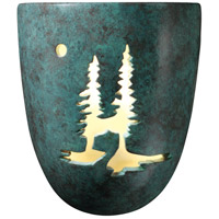 Justice Design Group Sun Dagger 1 Light Wall Sconce in Verde Patina with No Cutout CER-9525-PATV-NCUT