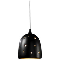 Justice Design Group Sun Dagger 1 Light Pendant in Carbon - Matte Black with No Cutout CER-9615-CRB-NCUT