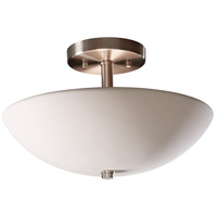 Justice Design Group Radiance Round Bowl Semi-Flush Semi-Flush in Bisque CER-9690-BIS
