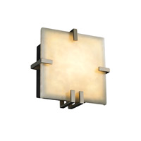 Justice Design Clouds Clips Square Wall Sconce (Ada) in Brushed Nickel CLD-5550-NCKL