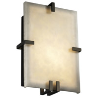 Justice Design Clouds Clips Rectangle Wall Sconce (Ada) in Black Nickel CLD-5551-BLKN photo thumbnail