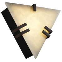 Justice Design Clouds Clips Triangle Wall Sconce (Ada) in Dark Bronze CLD-5552-DBRZ photo thumbnail