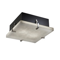 Justice Design CLD-5557-NCKL Clouds 4 Light 17 inch Brushed Nickel Flush-Mount Ceiling Light
