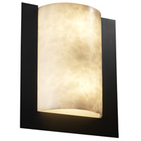 Justice Design Clouds Framed Rectangle 3-Sided Wall Sconce (Ada) in Matte Black CLD-5562-MBLK