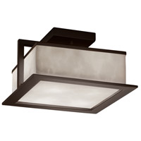 Justice Design CLD-7517W-DBRZ Clouds Laguna LED 12 inch Dark Bronze Flush Mount Ceiling Light