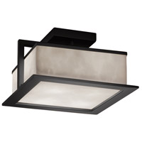Justice Design CLD-7517W-MBLK Clouds Laguna LED 12 inch Matte Black Flush Mount Ceiling Light