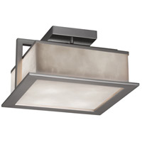 Justice Design CLD-7517W-NCKL Clouds Laguna LED 12 inch Brushed Nickel Flush Mount Ceiling Light
