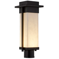 Justice Design CLD-7542W-MBLK Clouds LED 18 inch Matte Black Outdoor Post Light, Rectangle