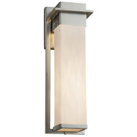 Justice Design CLD-7544W-NCKL Clouds 17 inch Outdoor Wall Sconce