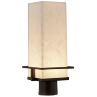 Justice Design CLD-7573W-DBRZ Clouds LED 16 inch Dark Bronze Outdoor Post Light Rectangle