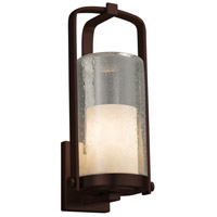 Justice Design CLD-7584W-10-DBRZ-LED1-700 Clouds LED 17 inch Outdoor Wall Sconce in 700 Lm LED Dark Bronze