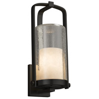 Justice Design CLD-7584W-10-MBLK-LED1-700 Clouds LED 17 inch Outdoor Wall Sconce in 700 Lm LED Matte Black