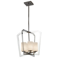 Justice Design CLD-8014-10-CROM Clouds 4 Light 18 inch Chandelier Ceiling Light in Polished Chrome Incandescent