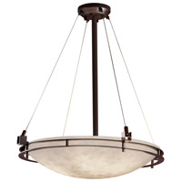 Justice Design CLD-8122-35-DBRZ-LED5-5000 Clouds LED 28 inch Dark Bronze Pendant Ceiling Light Bowl