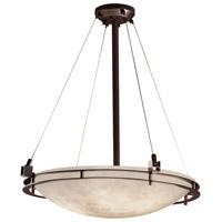 Justice Design CLD-8122-35-DBRZ-LED5-5000 Clouds LED 28 inch Dark Bronze Pendant Ceiling Light Bowl