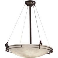 Justice Design CLD-8122-35-DBRZ Clouds 5 Light 28 inch Dark Bronze Pendant Ceiling Light Bowl