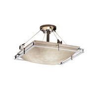 Justice Design Metropolis 3 Light Semi-Flush in Polished Chrome CLD-8131-25-CROM