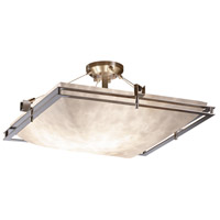 Justice Design CLD-8132-25-NCKL-LED5-5000 Clouds LED 28 inch Brushed Nickel Semi-Flush Ceiling Light Square