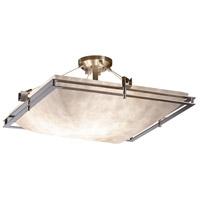 Justice Design CLD-8132-25-NCKL-LED5-5000 Clouds LED 28 inch Brushed Nickel Semi-Flush Ceiling Light Square