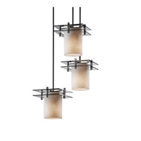 Justice Design Metropolis 3 Light Pendant in Polished Chrome CLD-8166-10-CROM-BKCD