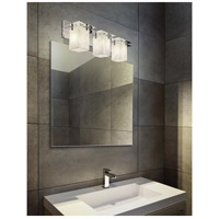 Justice Design CLD-8173-15-CROM-LED3-2100 Clouds LED 27 inch Polished Chrome Bath Bar Wall Light in 2100 Lm LED Square with Flat Rim