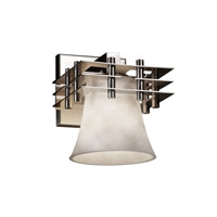 Justice Design CLD-8175-20-NCKL Metropolis 1 Light 7 inch Brushed Nickel Wall Sconce Wall Light in Round Flared