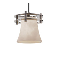 Justice Design Clouds 1 Light Pendant in Brushed Nickel CLD-8265-20-NCKL-BKCD