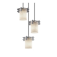Justice Design Clouds 3 Light Pendant in Polished Chrome CLD-8266-10-CROM-BKCD